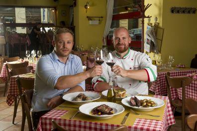 Someliér a šéfkuchař restaurace Alforno