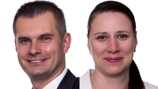 Jiří Raška a Barbora Navrátilová, management společnosti QUINTA-ANALYTICA