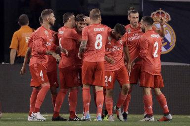 Hráči Realu Madrid nastoupili ve Spojených státech proti italskému AS Řím v dresech vyrobených z plastu, který byl sesbírán v mořích.