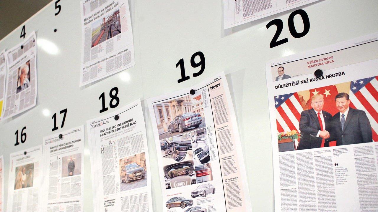 Aktuální výsledky Media projektu potvrdily rostoucí zájem čtenářů o Hospodářské noviny.