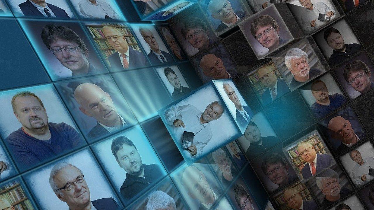 Koláž kandidátů do Rady Českého rozhlasu
