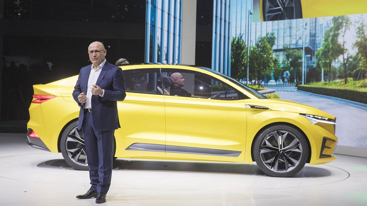 Škoda Auto představila vúterý namezinárodním autosalonu vŽenevě studii modelu Škoda Vision iV.