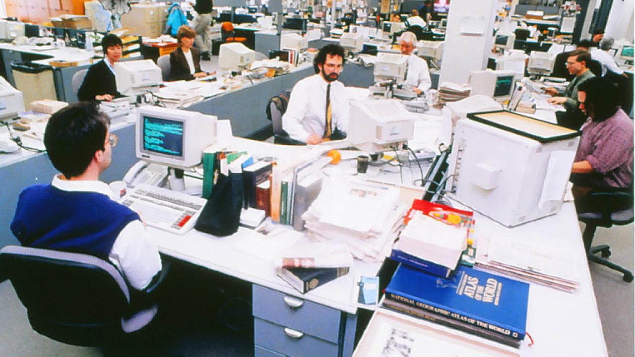 Redakce The Financial Post, rok 1993.