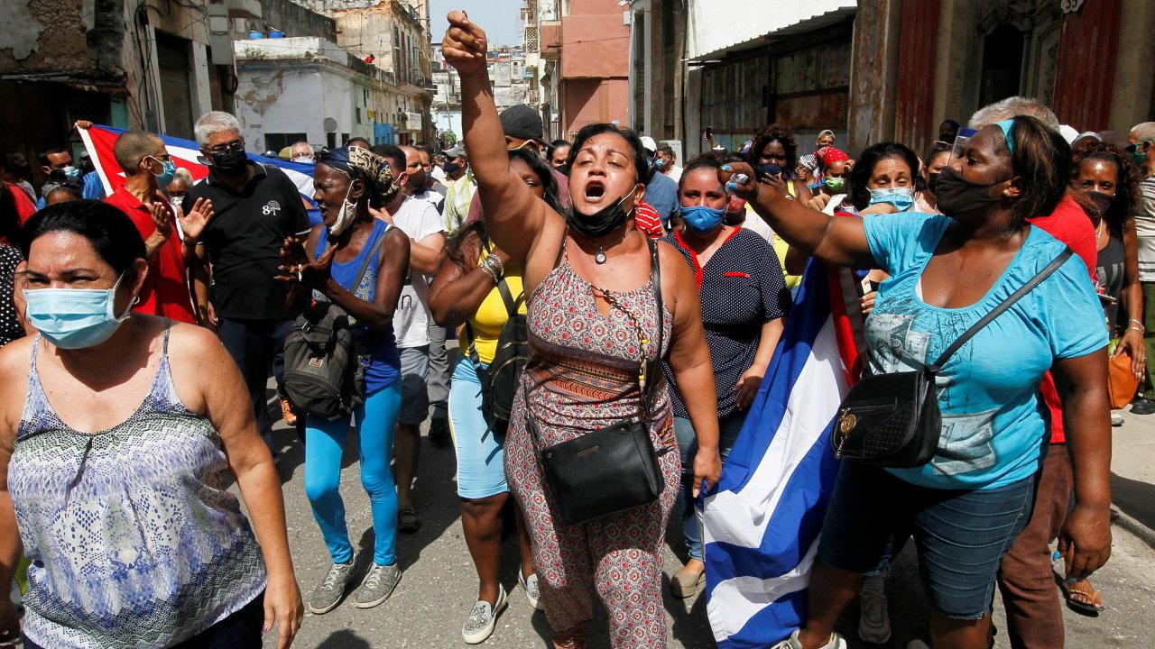 Kuba, vláda, protest