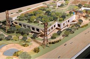 Frank Gehry navrhl budovu Facebooku se zahrádkou a tunelem