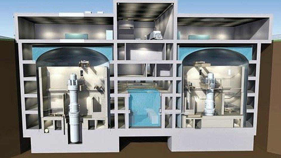 Model malé podzemní jaderné elektrárny společností Babcock & Wilcox Nuclear Energy a Bechtel Power Corporation. Podobné zařízení by mohlo stát i v Česku.