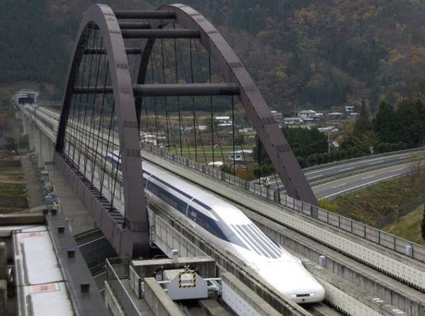 Zkušební jízda levitujícího vlaku z listopadu 2012, Tokio