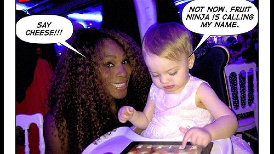 Serena Williams s Micaelou Bryanovou