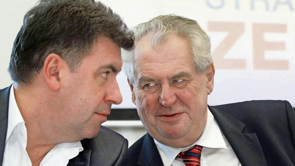 Martin Nejedlý má blízko k prezidentu Zemanovi.