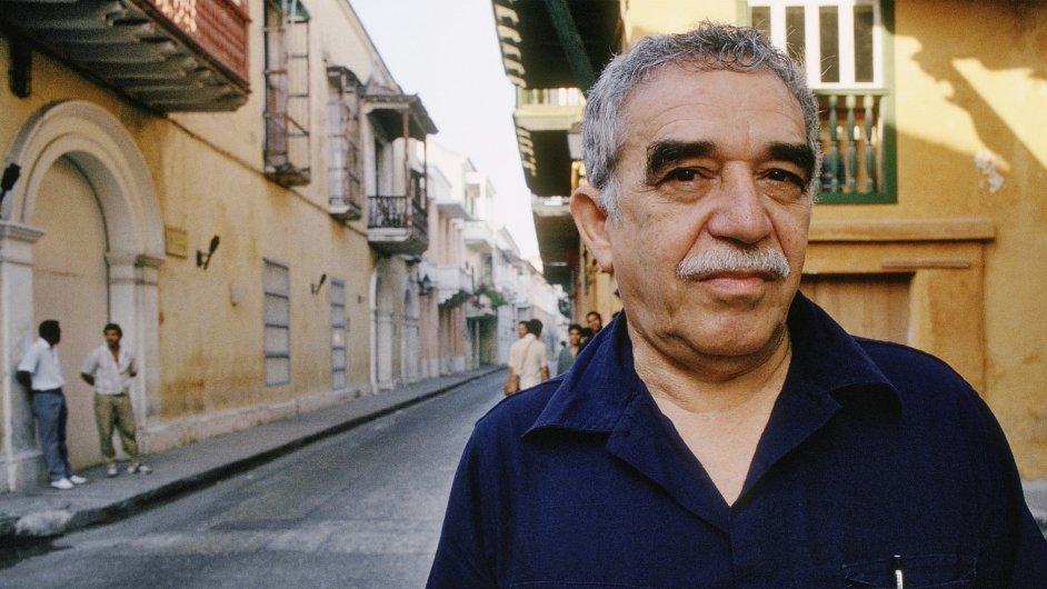 Gabriel Gárcia Márquez při návštěve Kolumbie roku 1991.