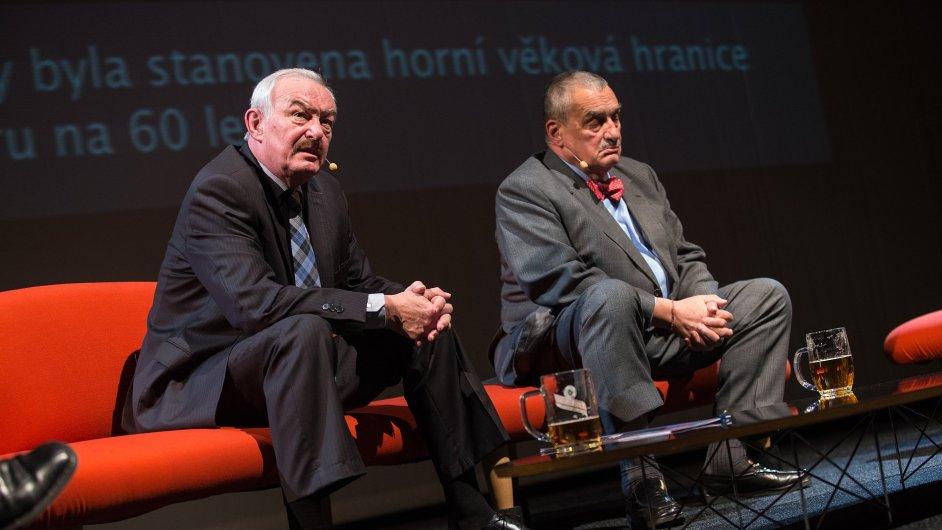 Kandidáti na prezidenta Přemysl Sobotka a Karel Schwarzenberg