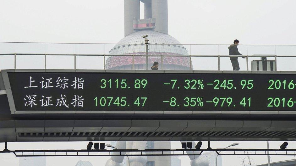 čína, burza, Šanghaj