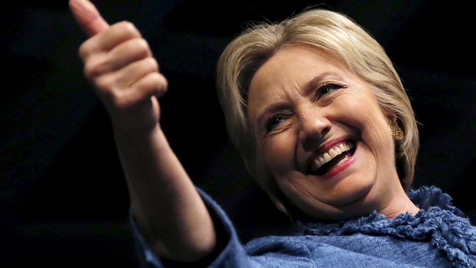 Hillary Clintonová po triumfu v úterních primárkách.
