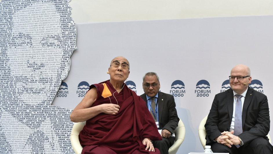 Dalajlama a ministr kultury Daniel Herman