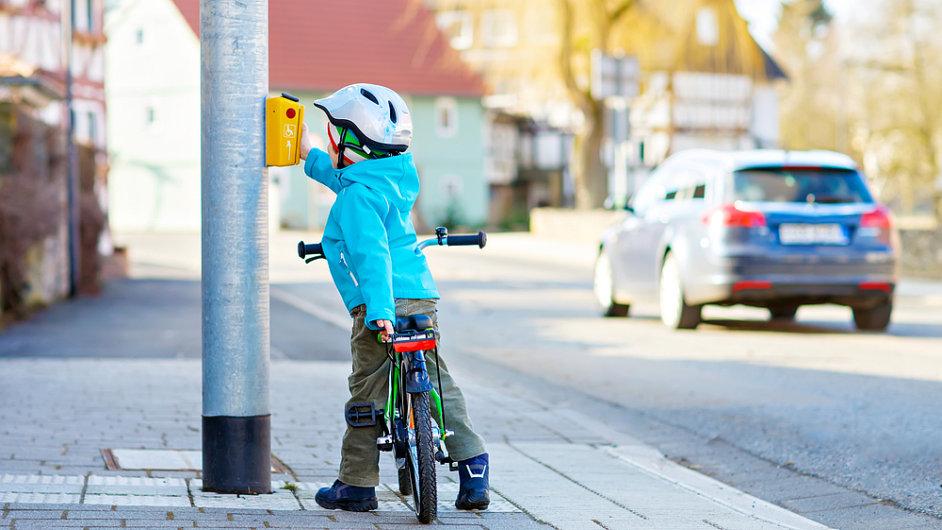 dítě, přechod, bunda, outdoor, kolo