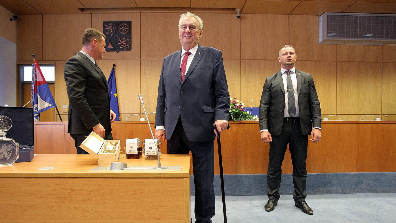 Prezident Miloš Zeman na návštěvě v Libereckém kraji.