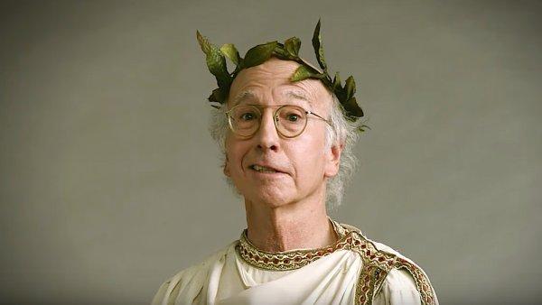 Larry David jako starý Říman: předzvěst nové řady seriálu Larry, kroť se.