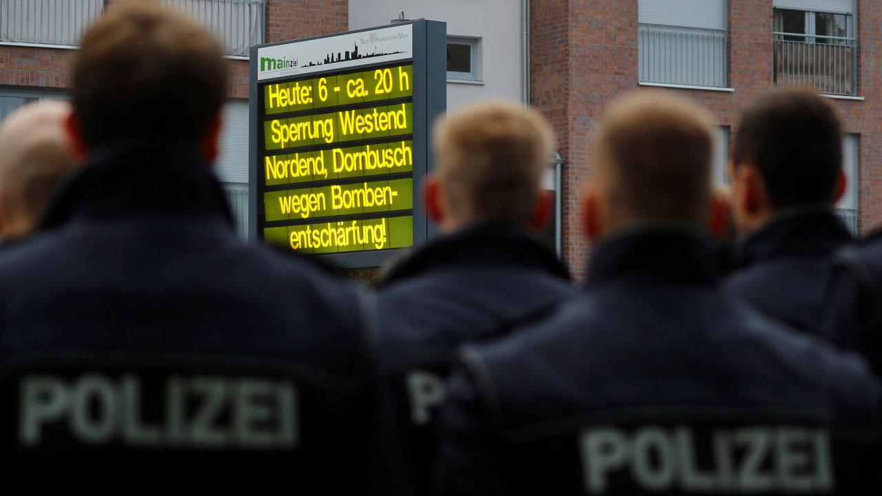 Frankfurt, evakuace, puma
