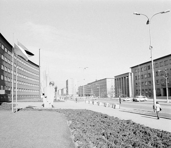 Leninova (dnes Kounicova) třída v Brně (1975)