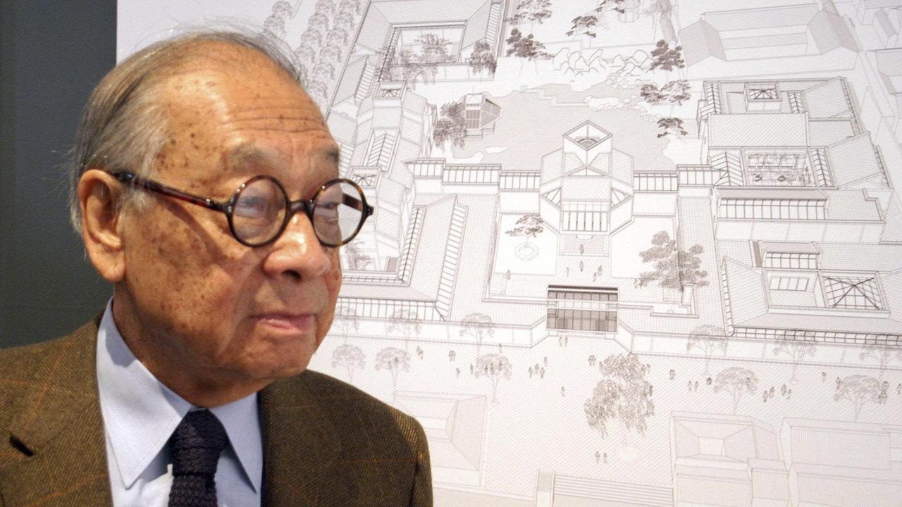35c9233b8e1a Ve věku 102 let zemřel architekt skleněné pyramidy v Louvru. Ieoh Ming Pei  navrhl také slavnou budovu čínské banky v Hongkongu