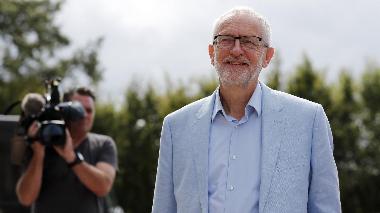 Britský opoziční lídr Jeremy Corbyn.