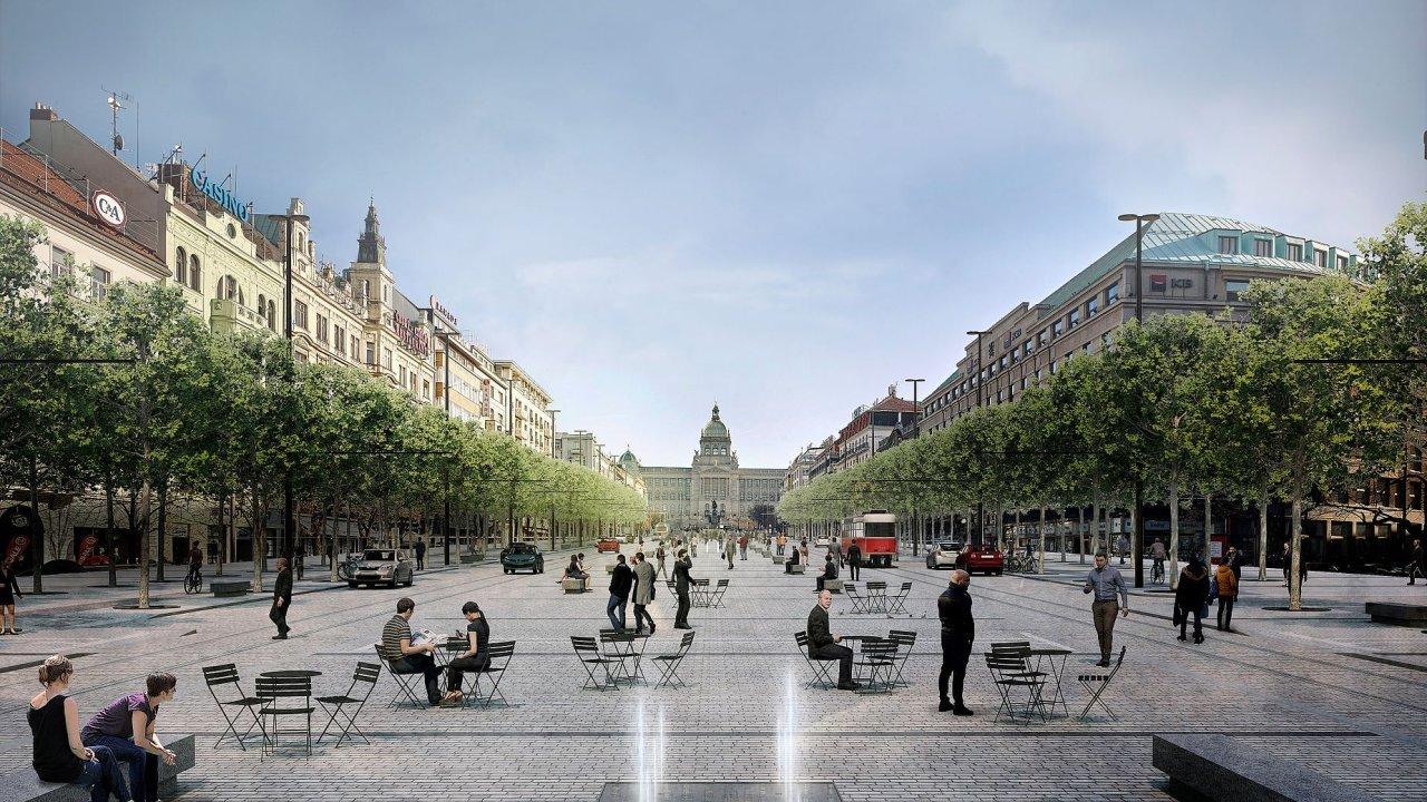Na jaře příštího roku by měla začít rekonstrukce spodní části náměstí od křížení s Vodičkovou a Jindřišskou ulicí směrem na Můstek.