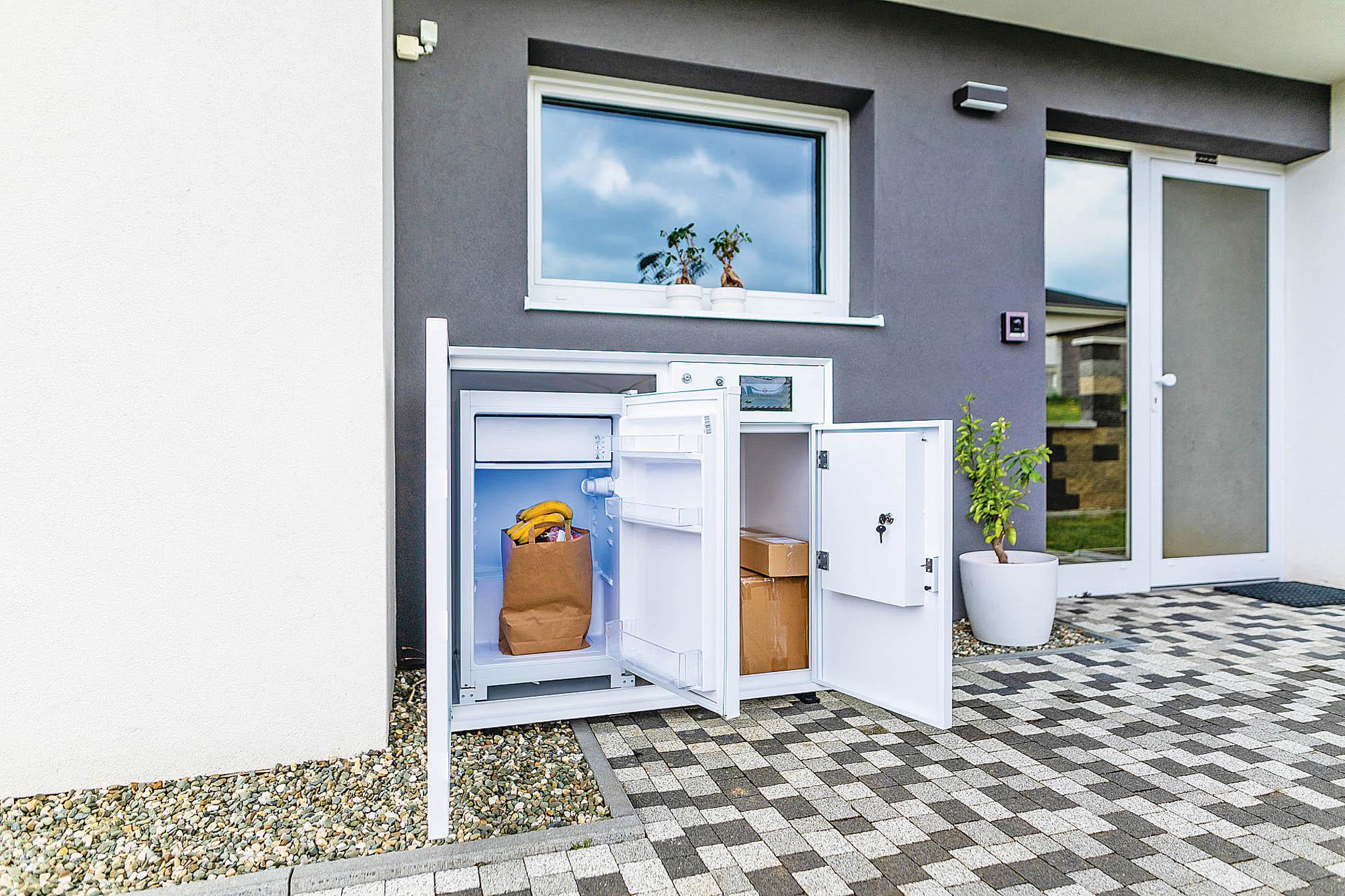 Inteligentní schránku Furtodo lze umístit přímo krodinného domku nebo dovchodu bytových domů.