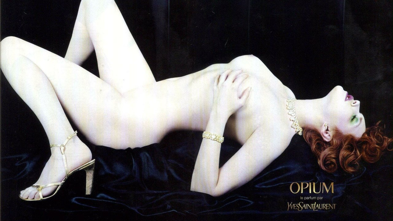 Sophie Dahl,  Opium, YSL, reklama, nahota, nahá