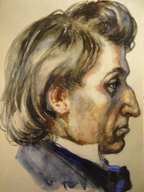 Chopinův portrét namaloval v roce 1943 osvětimský vězeň na objednávku nacistů.