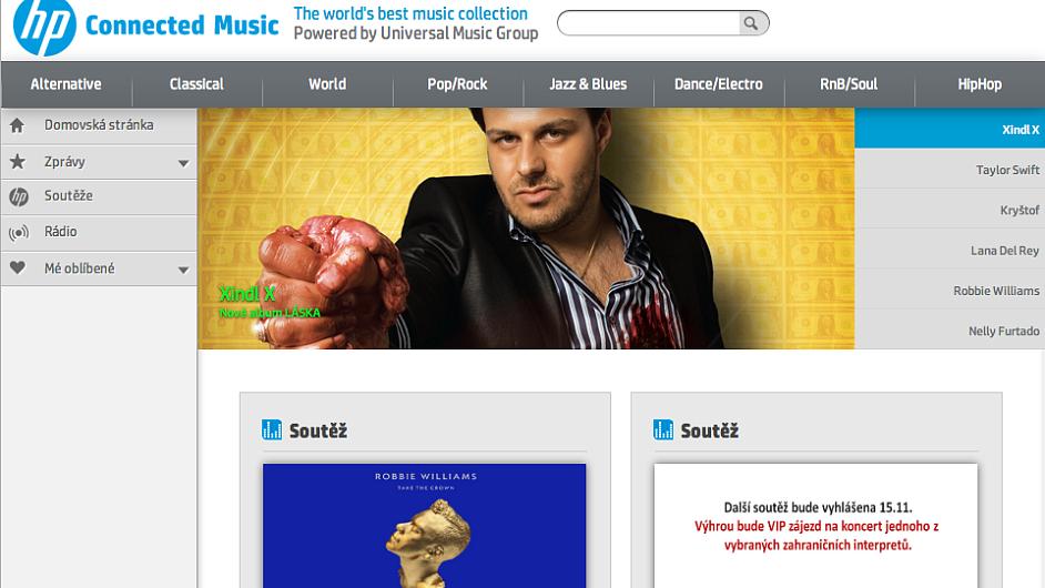 HP Connected Music v češtině