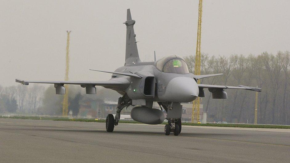 JAS-39 Gripen na základně v Čáslavi