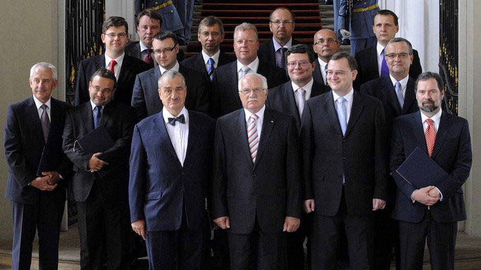 Původní Nečasova vláda z roku 2010