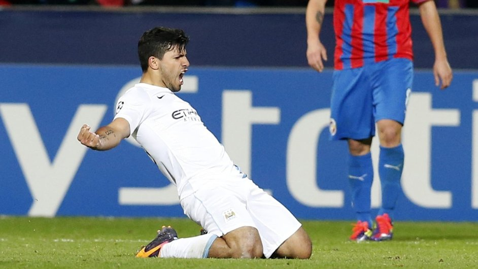 Sergio Aguero se raduje po gólu