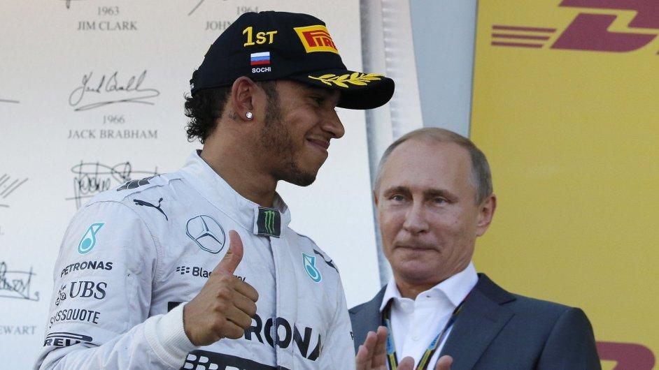 Lewis Hamilton s Vladimirem Putinem