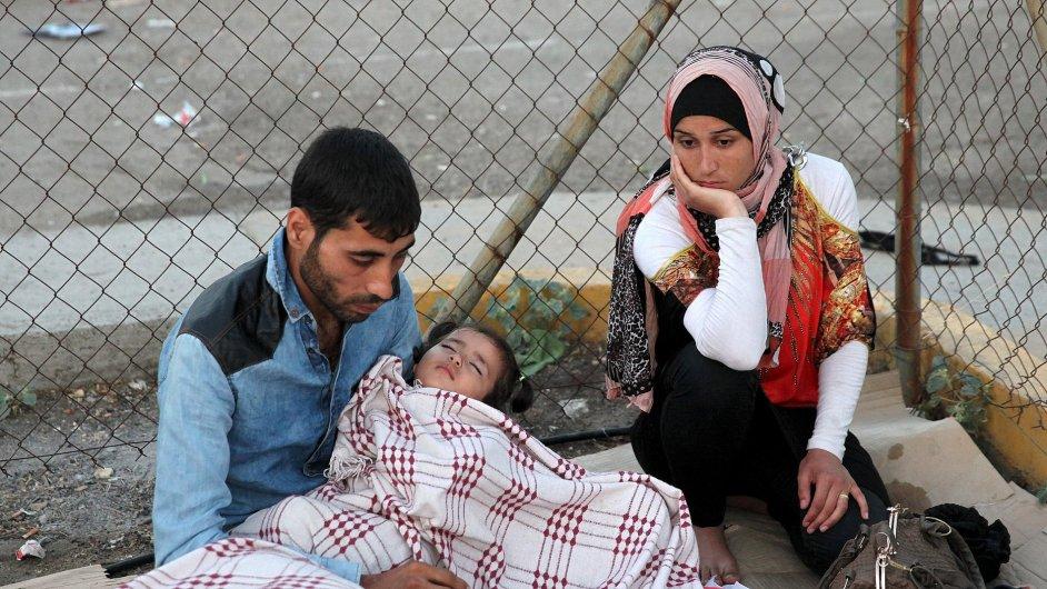 Utečenci na řeckém ostrově Lesbos.