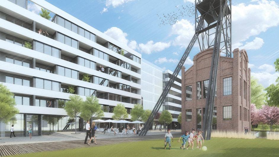 Společnost Asental chce na místě bývalého Dolu Jindřich v Ostravě postavit byty i kanceláře.