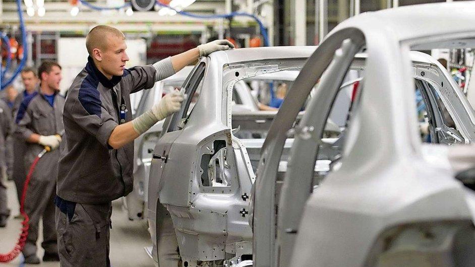 Továrna ve městě Kaluga ležícím 188 km jihozápadně od Moskvy, kde se vyrábějí škodovky.