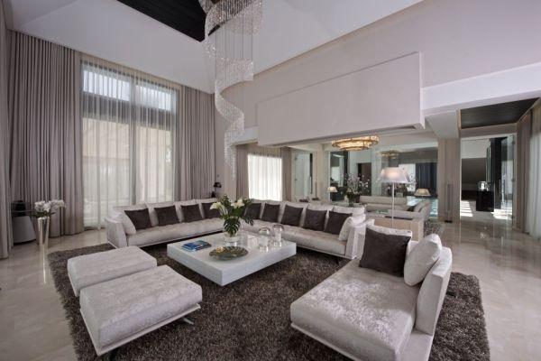 Obývací pokoj vily Casa Alegra.
