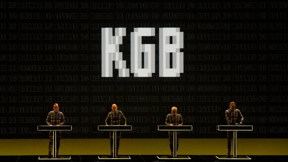Snímek z koncertu Kraftwerk