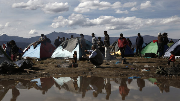 Uprchl�ci - Ilustra�n� foto.
