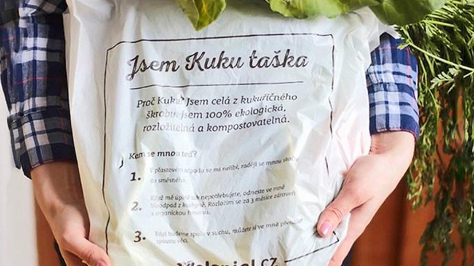 E-shop zavedl tašku z kukuřičného škrobu