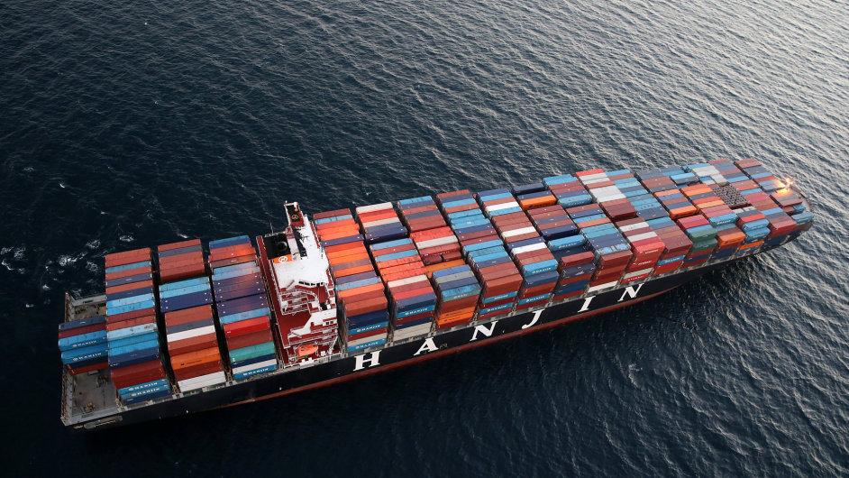 Kontejnerový přepravce Hanjin.