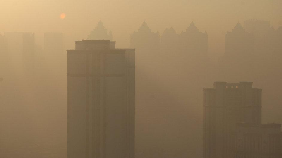 Čína Harbin znečištění smog