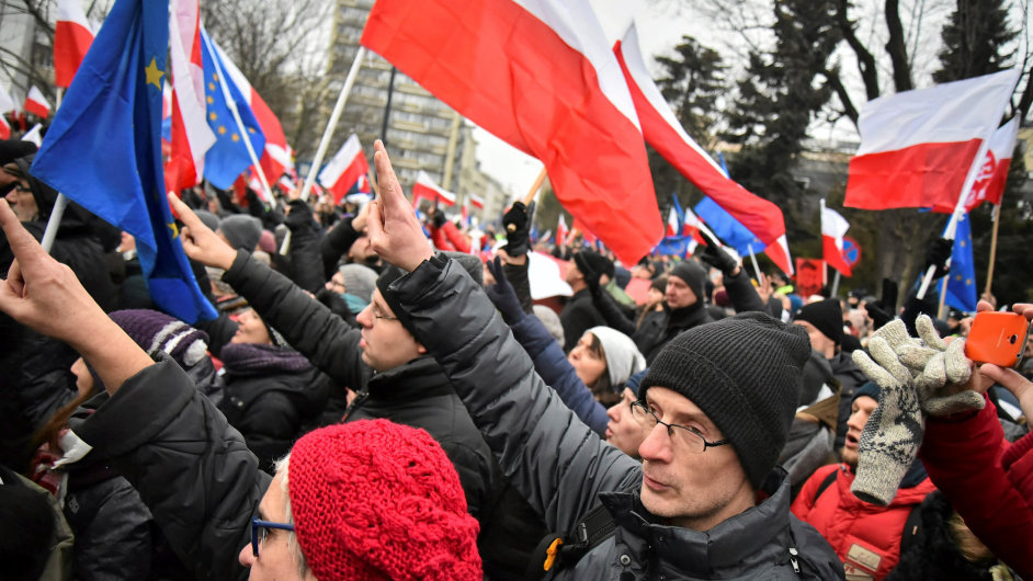 Protest, Polsko.