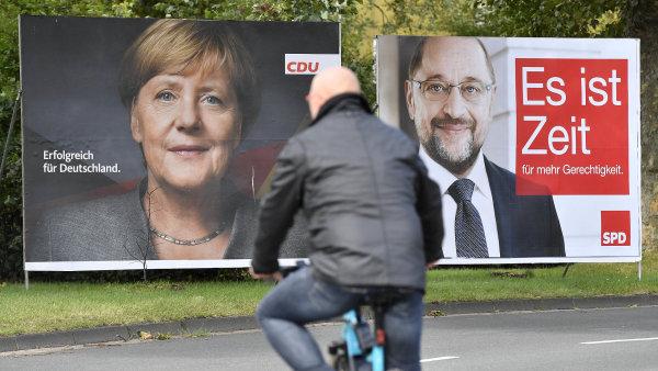 Německo se připravuje na parlamentní volby. Jasným favoritem je Konzervativní unie CDU/CSU Angely Merkelové.