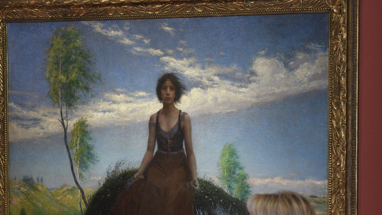 Snímek z výstavy impresionismu na Pražském hradě.