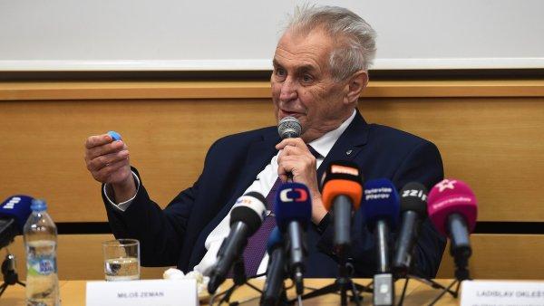 Na závěr návštěvy Olomouckého kraje označil Zeman zákrok policie v Lipníku nad Bečvou za adekvátní.