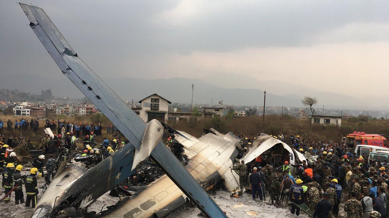 V Káthmándú havarovalo letadlo bangladéšských aerolinií.