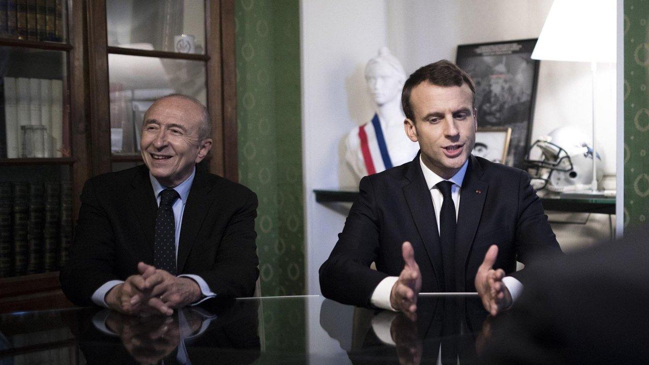 Francouzský ministr vnitra Gérard Collomb (vlevo) odmítá návrhy Národní fronty iRepublikánů. Ti chtějí odebrat radikálům sdvojím občanstvím to francouzské. Podezřelé pak chtějí internovat.