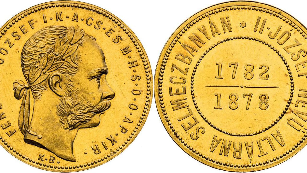 Banskoštiavnický zlatník z roku 1878 (na snímku) byl na aukci v Praze vydražen za 13,2 milionu korun.